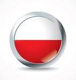 Poland flag button vector image vector image