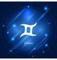 Gemini sign of the zodiac vector image