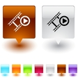 Film square button vector image vector image