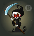 grim reaper cartoon character with scythe vector image