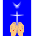 hands of Jesus vector image