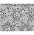 Seamless pattern with beautiful ornate suns vector image