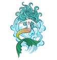 swimming mermaid vector image