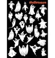 White flying monsters ghouls and ghosts vector image