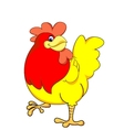yellow chicken vector image