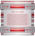 Gray and red background with layout vector image