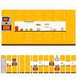 kitchen interior design set vector image