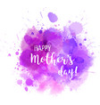 mothers day purple blot vector image vector image