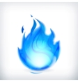 Blue fire icon vector image vector image