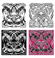 Celtic knot pattern with heron birds vector image vector image