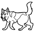 cartoon dog coloring page vector image