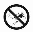 No mosquito sign icon simple style vector image