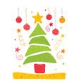 cheerful christmas tree vector image
