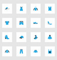 clothes colorful icons set collection of cap vector image
