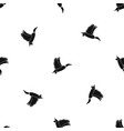 duck pattern seamless black vector image