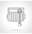 Fire hose reel thin line icon vector image