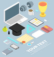 graduation cap diploma school accessories vector image
