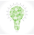 green gear make bulb shape vector image