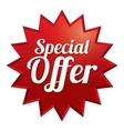 Special offer tag Red sticker Icon for sale vector image