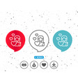 woman in love line icon heart sign vector image