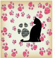 cat's paw seamless vector image