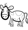 calf cartoon for coloring book vector image