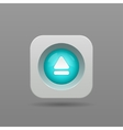 Up button vector image vector image