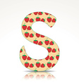 The letter S of the alphabet made of Strawberry vector image