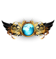 world with ornate frame vector image vector image