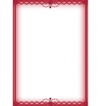 ruby red bead border vector image