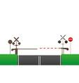 railroad crossing 03 vector image