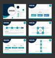 Circle Blue presentation templates Infographics vector image