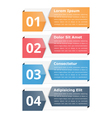 Infographic Objects with Numbers and Text vector image vector image