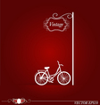 bicycle silhouette background vector image