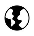 black icon world cartoon vector image