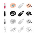 hairdresser cosmetology accessories and other vector image