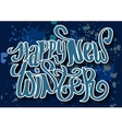 Happy new winter Typography banner with hand vector image