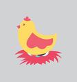 hen design vector image