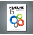 Magazine Cover with circles For book brochure vector image