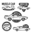 set of classic muscle car emblems vector image