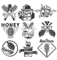 set of honey and beekeeping labels badges vector image