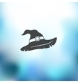 witch hat icon on blurred background vector image