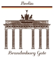 Brandenburg Gate vector image