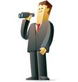 Businessman looking at future vector image