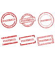 Football stamps vector image vector image