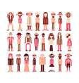 people icons on white vector image