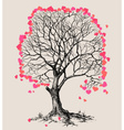 A tree of hearts love symbol vector image vector image