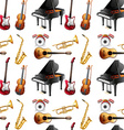 Seamless instrument vector image vector image
