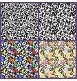 letter alphabet kids pattern vector image