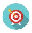 flat target and arrow icon vector image